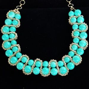 Amrita Singh Turquoise Glass Bead Necklace NWT